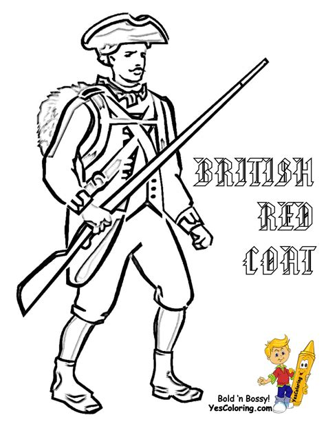 Revolutionary War Soldier Templates America Army Coloring Pages For Soldiers