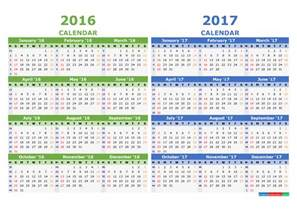 Calendar Template For Numbers by Printable 2016 2017 Calendar Template Yearly Calendar