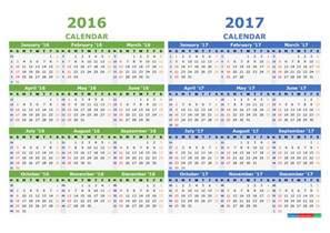 Kalender Wk 2018 Printable 2016 2017 Calendar Template Yearly Calendar