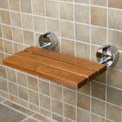 teak modern folding shower seat for the home