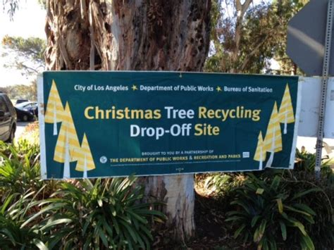 los angeles christmas tree recycling program