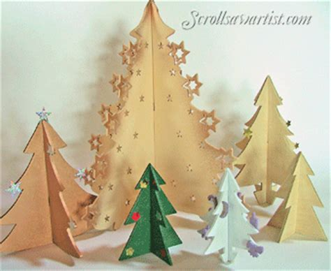 scroll saw patterns holidays christmas trees