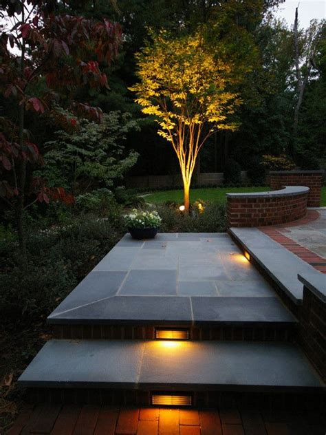 outdoor step lighting ideas   romantic    yard