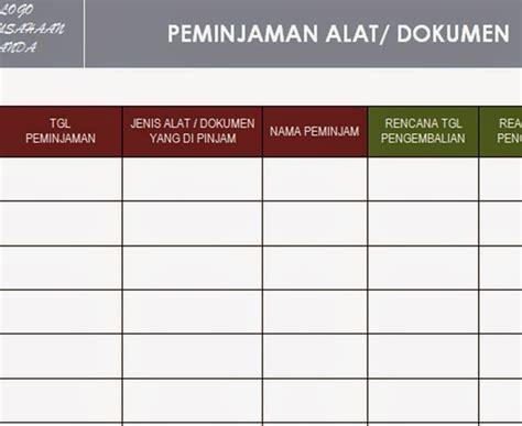 format buku barang habis pakai pt sistem manajemen utama paket formulir kosong blank