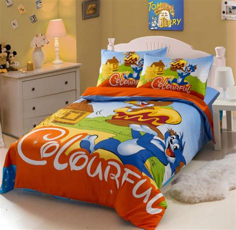 Tom And Jerry Bedding Set New 3pcs Tom And Jerry Cat Children Cotton Print Bedding Sets Size