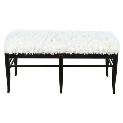 sheepskin bench gio ponti inspired bench in natural sheepskin for sale at