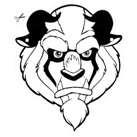 disegni da colorare della e la bestia disegno di maschera della bestia da ritagliare da colorare