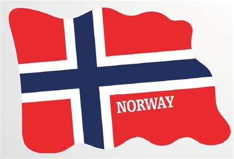 Magnet Norwegia Souvenirs magnet flag countries design from epoxy