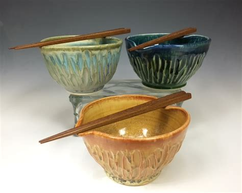 Handmade Pottery At Home - handmade pottery chopstick bowls