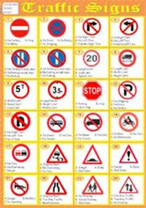 printable road sign flash cards uk esl worksheets for adults traffic signs