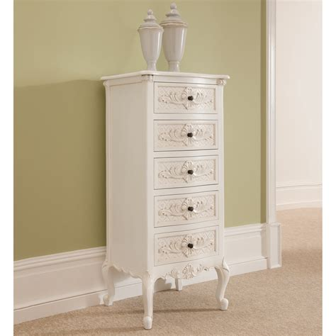 Rococo Antique French Tallboy Chest Antique White Furniture White Rococo Bedroom Furniture