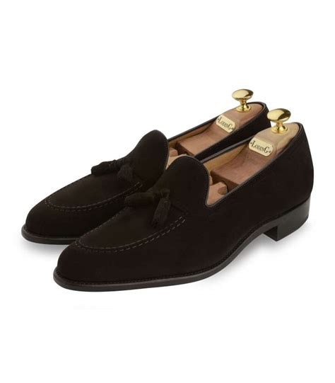 loafer with brown suede loafers with tassel and welted goodyear