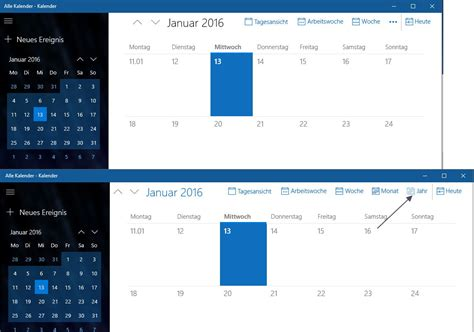 Kalender 2016 Jahresansicht Kalender App Auch Mit Jahresansicht Redstone