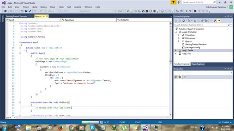 xamarin clickable layout visual studio 2015 hangs when building droid project of