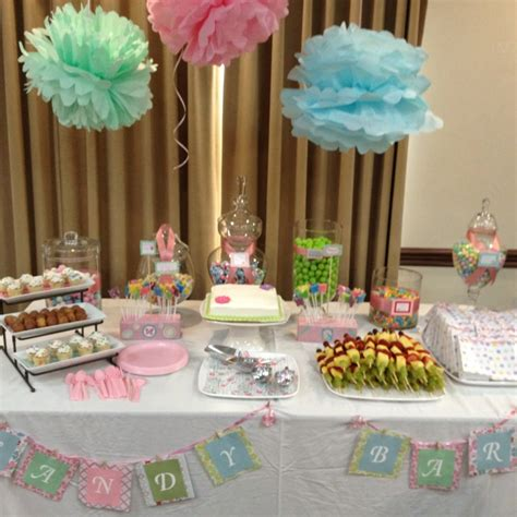 baby shower buffet baby shower candy buffet craftiness pinterest