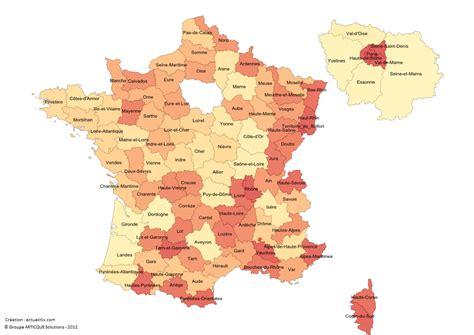 carte de france avec departements les noms des departements