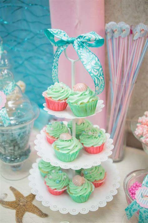 Vintage mermaid Baby Shower Party Ideas   Photo 1 of 46