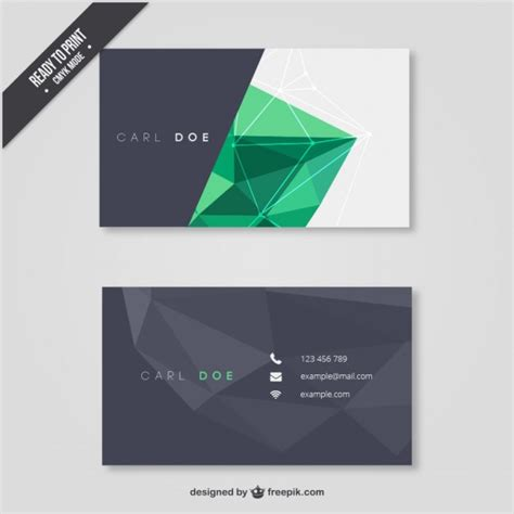 eps format visiting cards free download business card with polygons vector free download