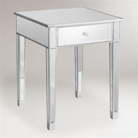 Mirrored Side Table Mirrored Accent Table World Market