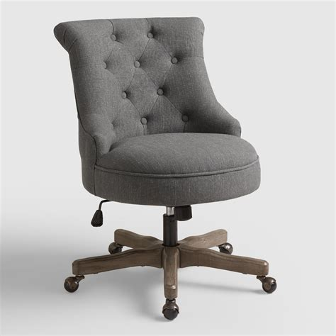 market desk chair charcoal elsie upholstered office chair market