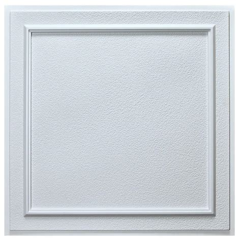 ceiling tiles home depot udecor belgium 2 ft x 2 ft lay in or glue up ceiling tile in white 40 sq ft ct 1121
