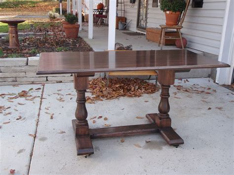 How To Put Legs On A Table by Hickory Trestle Table By Kirchhoff Tables Using Osborne