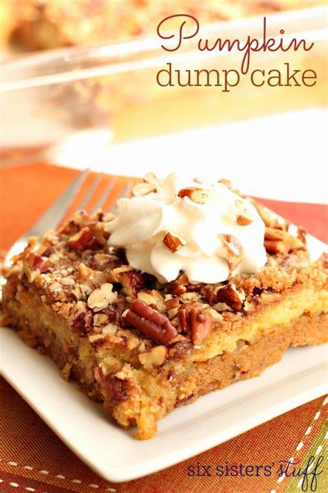 printable dump recipes pumpkin dump cake recipe six sisters stuff