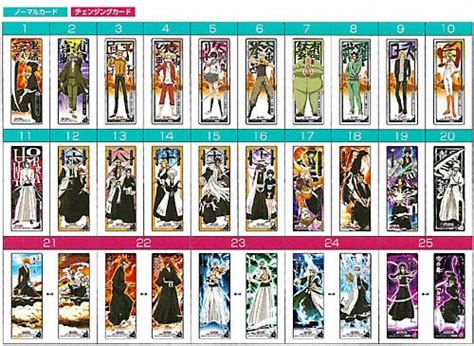 naruto printable bookmarks bleach ブリーチ bleach the card gum ヴァイザード登場 バンダイキャンディトイ