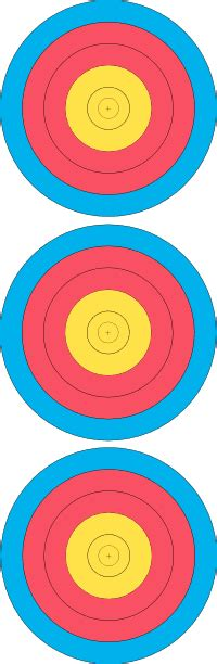 printable fita indoor targets scoring indoor rounds arkwright s archery competitions page