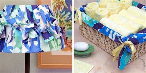 15 Handmade Decorative Accessories Recycling Old Scarves