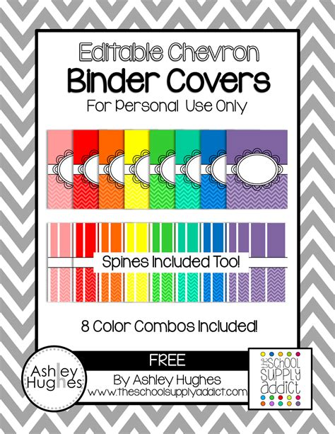 Blog Hoppin Free Binder Covers For Color Coding Or Whatever Free Binder Cover And Spine Templates