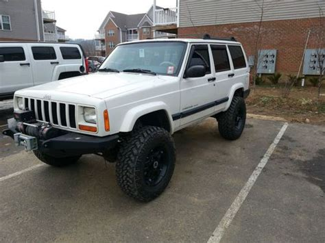 jeep xj white find used 1999 lifted white jeep xj 4 door in