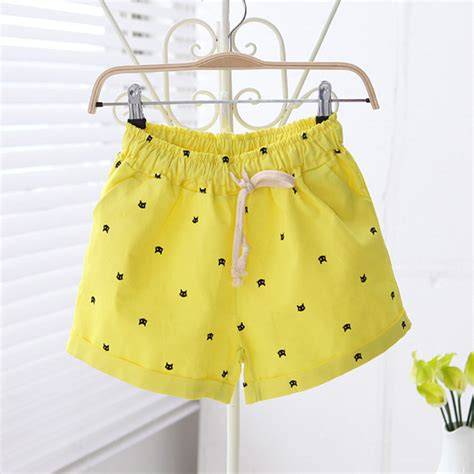 free pattern high waisted shorts free shipping 2016 new summer shorts with cats pattern