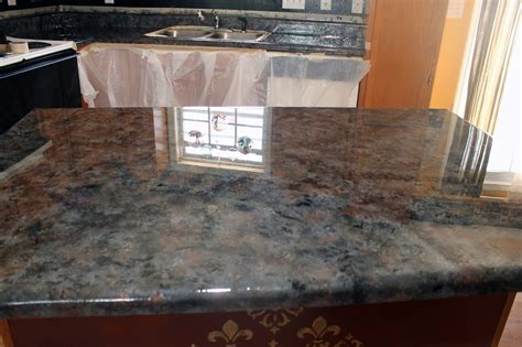 Faux Countertops by Dimestore Diy Kitchen Laminate To Faux Granite
