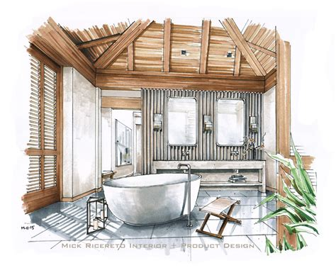 interior design hawaiian style hawaii resort bathroom rendering pinteres
