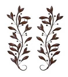 Metal Leaf Wall Decor by Lovely Set Of 2 Metal Wall Tree Branch Leaves D