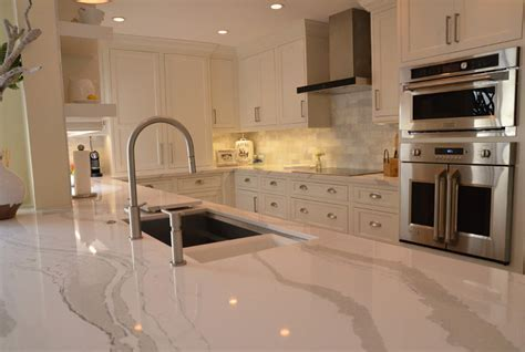 White Kitchen with Driftwood Peninsula   Home Bunch