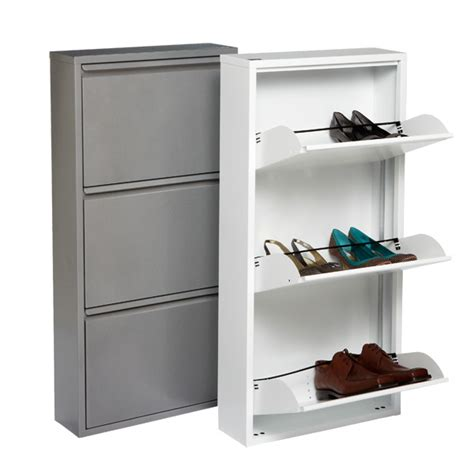 thin shoe storage 3 drawer shoe cabinet the container store