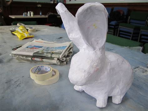 How To Make A Paper Mache Rabbit - paper mache bunny charclam flickr