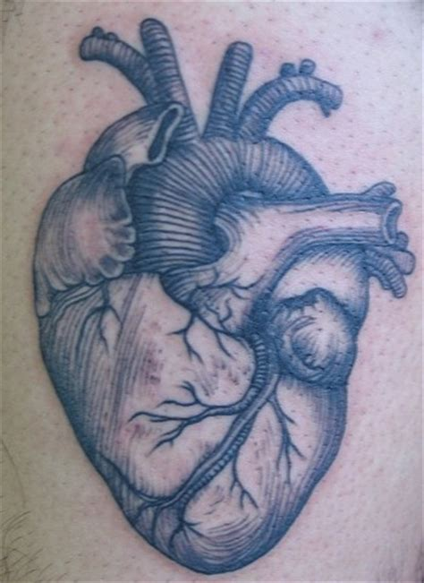 real heart tattoo pin real human on