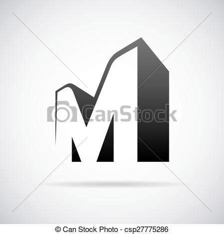 letter m layout vector logo for letter m design template logo for letter
