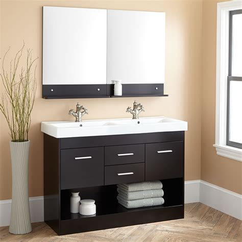black mirror bathroom cabinet black double sink vanity signaturehardware com