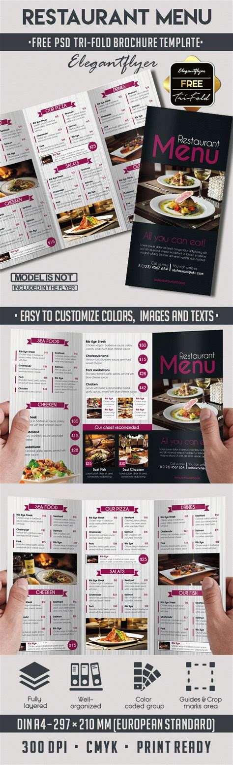 Menu Brochure Template Free by Template Brochure For Restaurant By Elegantflyer