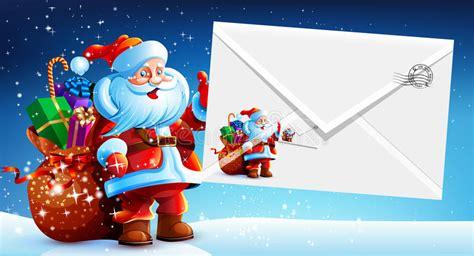 santa claus   bag  gifts holding  envelope stock