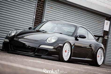 slammed porsche gt3 papa s brand new bag the u k s only bagged porsche 997