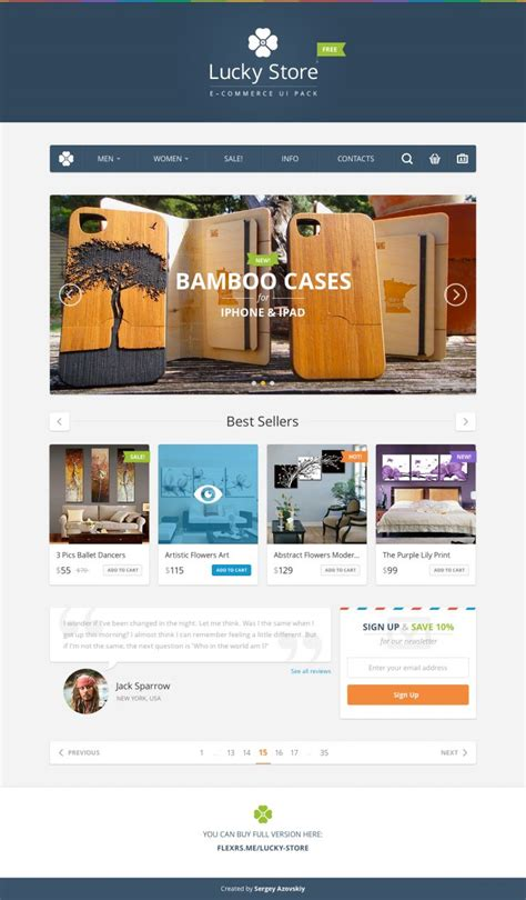 E Commerce Ui Pack Free Psd Template Download Download Psd E Commerce Bookstore Template