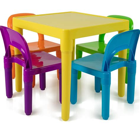 childrens table and four chairs amazon com delta children multi color deluxe