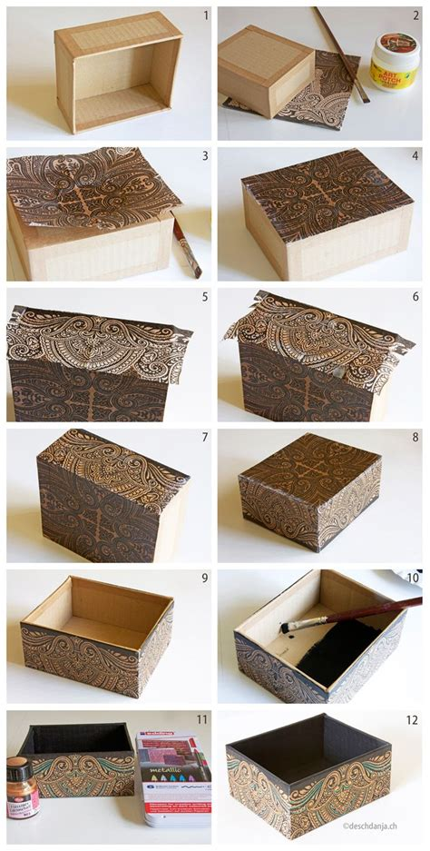 How To Decoupage A Cardboard Box - 1000 ideas about decoupage box on cigar box