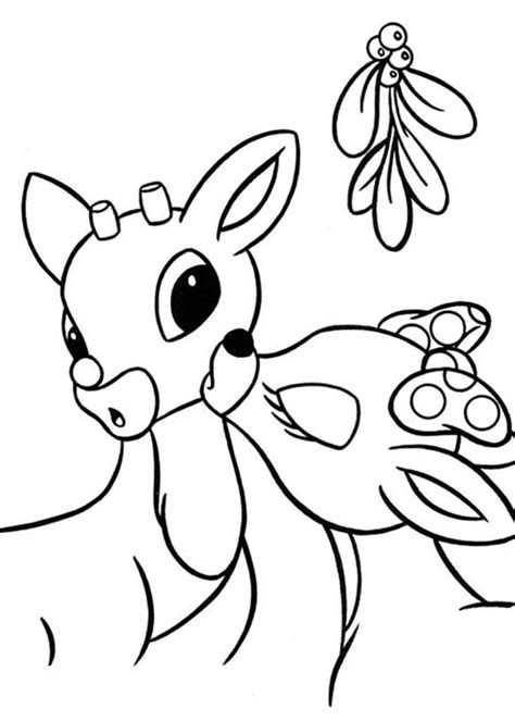 free coloring page of rudolph the red nosed reindeer clarice kiss rudolph the red nosed reindeer coloring page