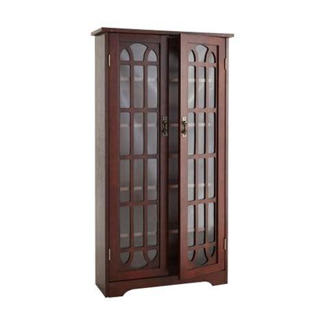 Cherry Wood Dvd Storage Cabinet by Black Friday Sei Window Pane Wood Media Cabinet Cherry